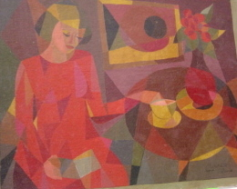 Robert Mitchell Red Girl and teacup 1952